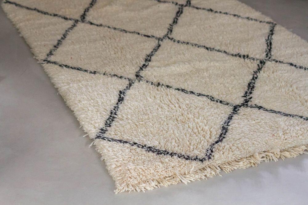 le tapis beni ouarain grand blanc cuivre d tails vintage ethniques et graphiques. Black Bedroom Furniture Sets. Home Design Ideas